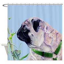 Beautiful Pug Art Shower Curtain