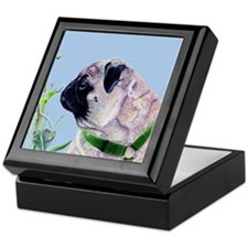 Beautiful Pug Art Keepsake Box