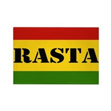 Rasta Reggae Colours Rectangle Magnet