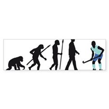 evolution fieldhockey player Bumper Sticker