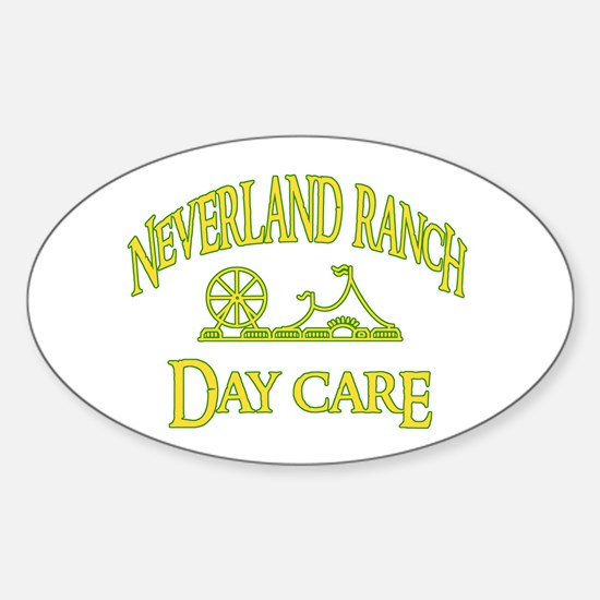 Neverland DayCare Oval Decal