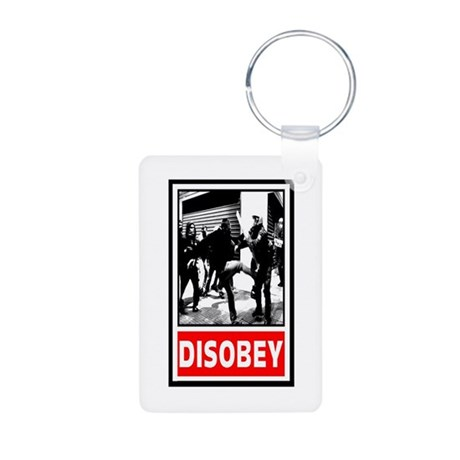 Disobey! Aluminum Photo Keychain