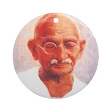 Gandhi Wisdom Ornament (Round)