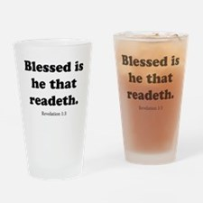 Revelation 1:3 Drinking Glass