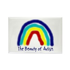 The Beauty of Autism Rectangle Magnet