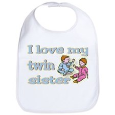 """Baby Twin Love Sis"" Bib"