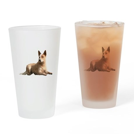 Cattle Dog Drinking Glass