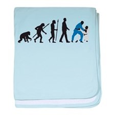 evolution judo martial arts baby blanket