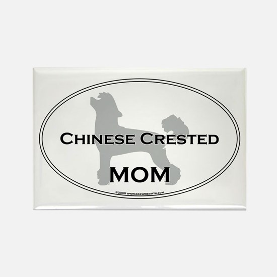 Chinese Crested MOM Rectangle Magnet