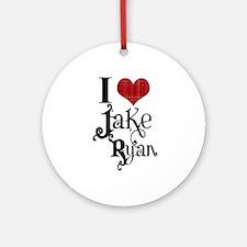 I love Jake Ryan Ornament (Round)