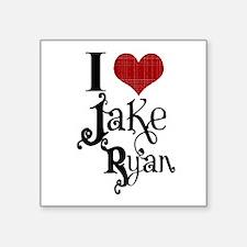 "I love Jake Ryan Square Sticker 3"" x 3"""