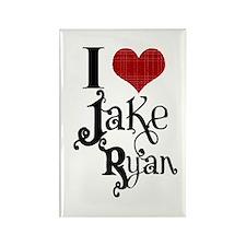 I love Jake Ryan Rectangle Magnet
