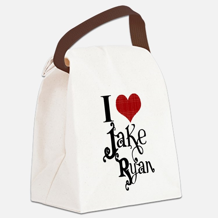 I love Jake Ryan Canvas Lunch Bag