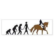 evolution horse riding Bumper Sticker
