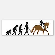 evolution horse riding Sticker (Bumper)