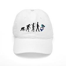 evolution swimmer on startblock Baseball Cap