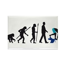 evolution swimmer on startblock Rectangle Magnet