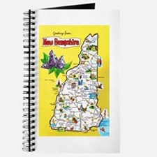 New Hampshire Map Greetings Journal