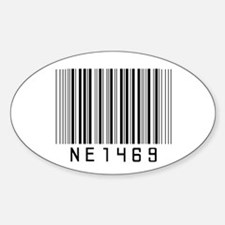 NE1 4 69 Oval Decal
