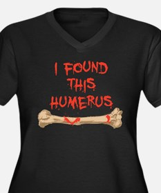 Found this humerus Women's Plus Size V-Neck Dark T
