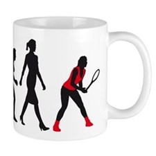 evolution female tennis player Mug