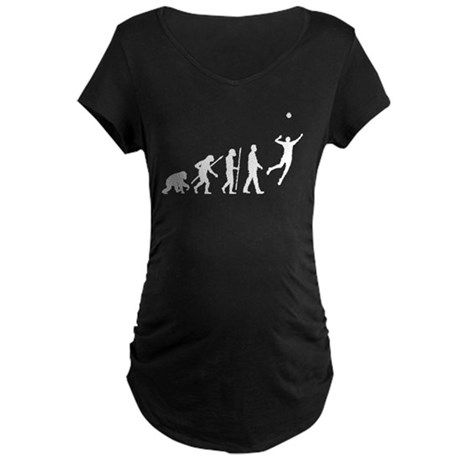 evolution volleyball player Maternity Dark T-Shirt