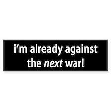 against war Bumper Bumper Sticker