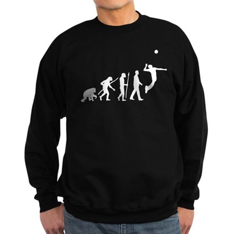 evolution volleyball player Sweatshirt (dark)
