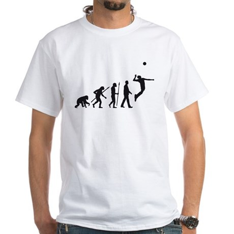 evolution volleyball player White T-Shirt