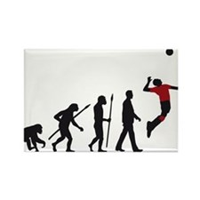 evolution volleyball player Rectangle Magnet