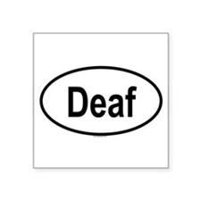 DEAF Oval Sticker