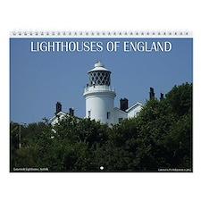 Lighthouses of England Wall Calendar