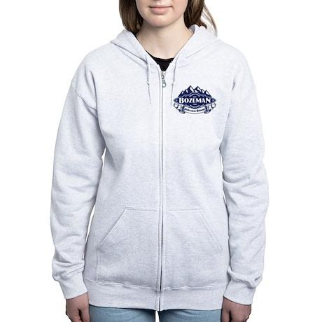 Bozeman Mountain Emblem Women's Zip Hoodie