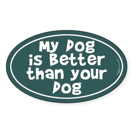 Best Dog Oval Sticker