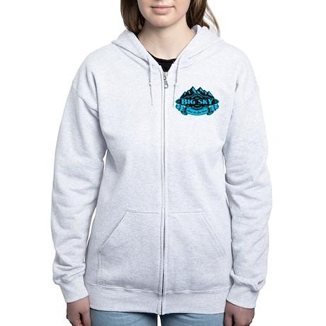 Big Sky Mountain Emblem Women's Zip Hoodie