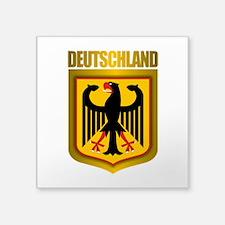 """Deutschland Pride.png Square Sticker 3"""" x 3"""""""