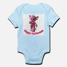 Happy Halloween Pink Kitten Infant Creeper