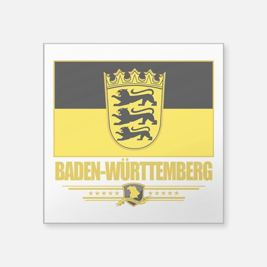 """Baden-Wurttemberg (Flag 10).png Square Sticker 3"""""""