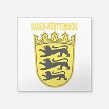 "Baden-wurttemberg COA.png Square Sticker 3"" x 3"""