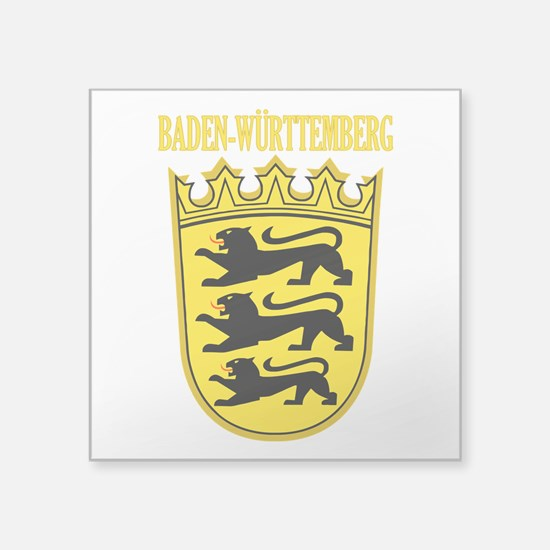 """Baden-wurttemberg COA.png Square Sticker 3"""" x 3"""""""