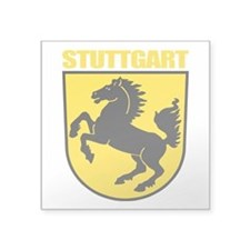 "Stuttgart (gold).png Square Sticker 3"" x 3"""