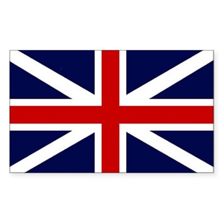 British Flag Sticker (Rectangle)