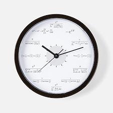 Math Wall Clock (white background)