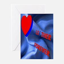 LEATHER FOREVER_SATIN/Fukital Greeting Card10PK