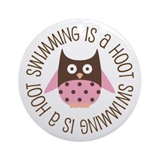 Swimming Is A Hoot Ornament (Round)