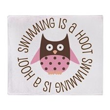 Swimming Is A Hoot Throw Blanket