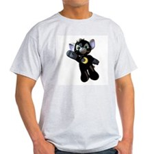 Black Moon Kitten Ash Grey T-Shirt