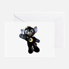Black Moon Kitten Greeting Cards (Pk of 10)