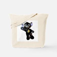 Black Moon Kitten Tote Bag