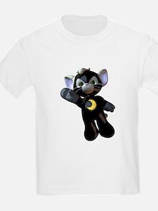 Black Moon Kitten Kids T-Shirt